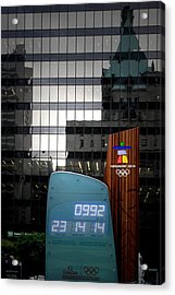 Countdown Clock Olympic Winter Games Vancouver Bc Canada 2010 Acrylic Print by Christine Till