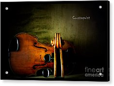 Counterpoint Acrylic Print by Steven Digman