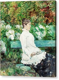 Countess Adele Of Toulouse-lautrec In The Garden Of Malrome Acrylic Print