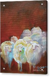 Counting Sheep Acrylic Print by Xx X