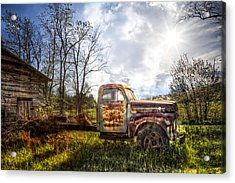 Country Afternoon Acrylic Print by Debra and Dave Vanderlaan