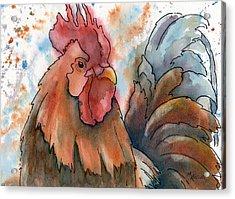 Country Alarm Clock Acrylic Print by Marsha Elliott