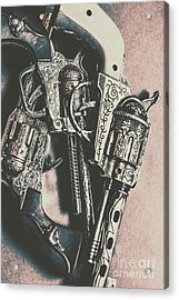 Country And Western Pistols Acrylic Print by Jorgo Photography - Wall Art Gallery
