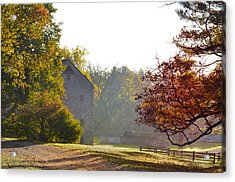 Country Autumn Acrylic Print by Bill Cannon