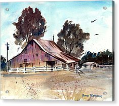 Country Barn Acrylic Print by George Markiewicz