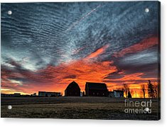 Country Barns Sunrise Acrylic Print