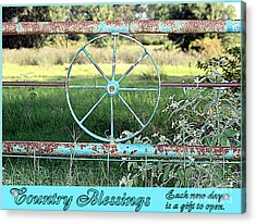Country Blessings Acrylic Print
