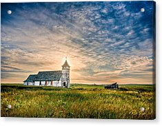 Country Church Sunrise Acrylic Print