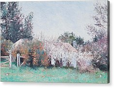 Country Cottage In Spring Time Acrylic Print by Jan Matson