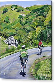 Country Cyclists Acrylic Print by Colleen Proppe