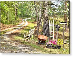 Acrylic Print featuring the photograph Country Driveway In Springtime by Gordon Elwell