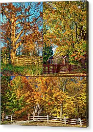 Country Fences Collage Acrylic Print