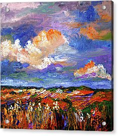 Country Fields Impressionist Landscape Acrylic Print