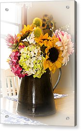 Country Flower Bouquet Acrylic Print by Trudy Wilkerson