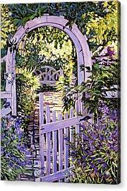 Country Garden Gate Acrylic Print by David Lloyd Glover