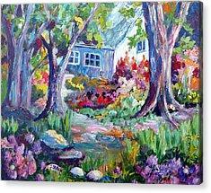Country Garden Acrylic Print by Saga Sabin