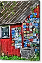 Country Graffiti Acrylic Print