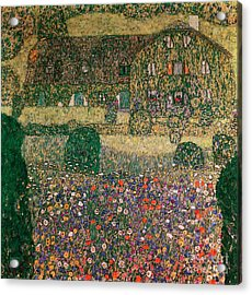 Country House By The Attersee Acrylic Print by Gustav Klimt
