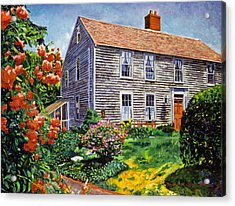 Country House Cape Cod Acrylic Print by David Lloyd Glover