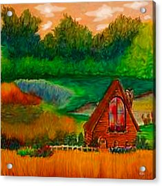 Country Acrylic Print by Karen R Scoville