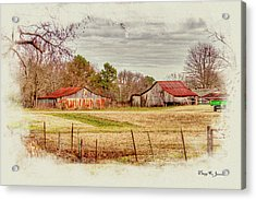 Acrylic Print featuring the digital art Country Landscape by Barry Jones