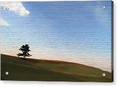 Country Landscape Minimalism Acrylic Print
