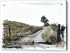 Country Lane Acrylic Print by RKAB Works