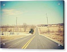 Country Lanes Acrylic Print by Allison Ruiz