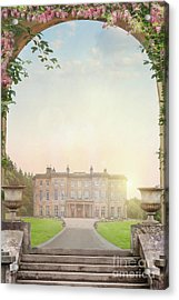 Country Mansion At Sunset Acrylic Print by Lee Avison