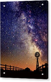 Country Milky Way Acrylic Print