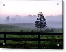 Country Morning Fog Acrylic Print