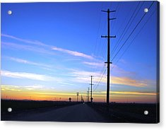 Acrylic Print featuring the photograph Country Open Road Sunset - Blue Sky by Matt Harang