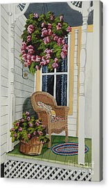 Country Porch Acrylic Print by Charlotte Blanchard