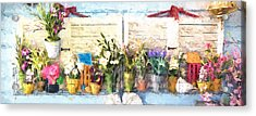 Country Porch Flowers Acrylic Print