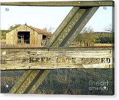 Acrylic Print featuring the photograph Country Quiet by Joe Jake Pratt