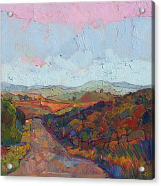 Acrylic Print featuring the painting Country Road by Erin Hanson