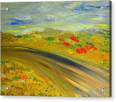 Acrylic Print featuring the painting Country Road by Evelina Popilian