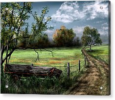 Country Road Acrylic Print by Ron Grafe