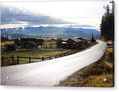 Acrylic Print featuring the photograph Country Road by Sergey Nassyrov