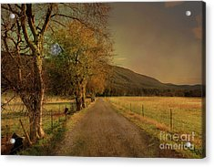 Country Road Take Me Home Acrylic Print