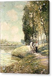 Country Road To Spuyten Acrylic Print by Ernest Lawson