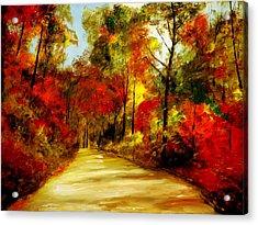 Country Roads Acrylic Print by Phil Burton