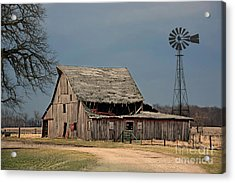 Country Roof Collapse Acrylic Print