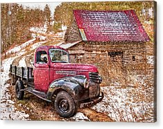 Country Scene In Winter Acrylic Print