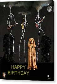 Country Scream Happy Birthday Acrylic Print by Eric Kempson