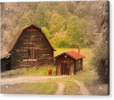Country Shack Acrylic Print by Itai Minovitz