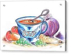 Countryside Harvest Soup Acrylic Print by Teresa White