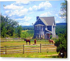 Country Splendor Acrylic Print by Ashley Porter