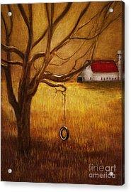 Country Tire Swing Acrylic Print