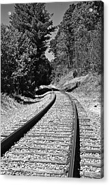 Country Tracks Black And White Acrylic Print